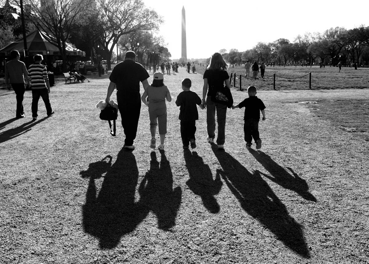 After a long, trying day of hospital treatments, the Millers share some family time as they walk hand-in-hand along the Mall in Washington D.C. Kyla was part of a cancer study at Children's National Medical Center, but had to withdraw when doctors found a piece of the tumor on her brain stem had gotten bigger.