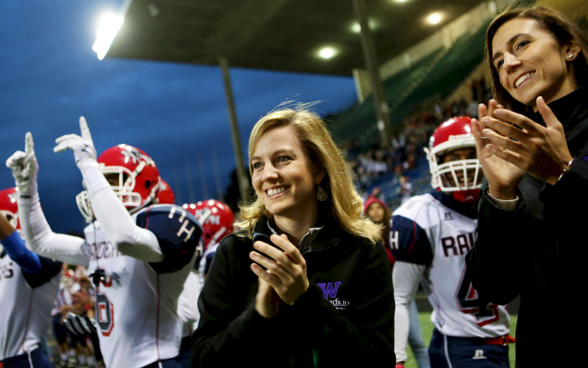 Click here to view story; Under Friday night lights, she helped Raiders stay scrappy