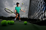 Jamestown's Grayson DeBerry is the Daily Press Boys tennis athlete of the year.