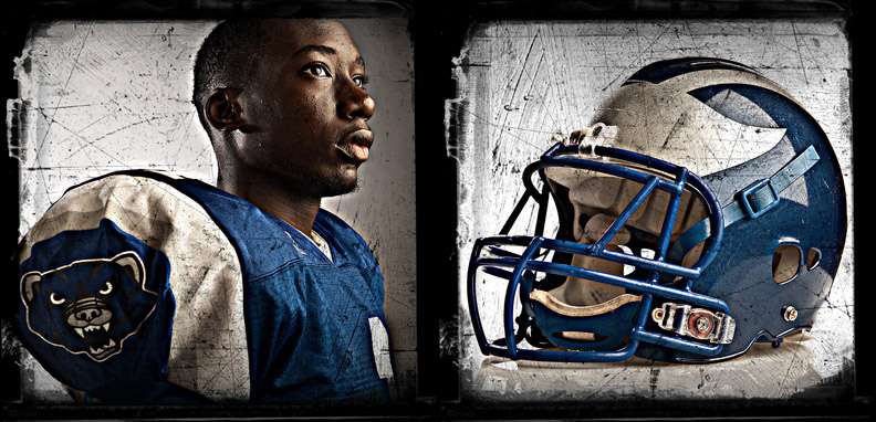 2010 High School Football Preview Poster - Westover High School's Theo Livingston.