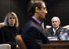 Third Place | News Picture StoryShawn RoccoNews and Observer A few weeks later Judges Tanya Wallace and Howard Manning listen as Taylor testifies on his first day in front of the North Carolina Innocence Inquiry Commission.