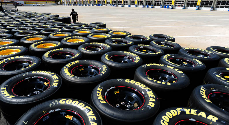 Second Place | Sports Story Jeff SinerCharlotte ObserverStacks of Goodyear tires wait to meet the need of NASCAR Sprint Cup teams.
