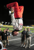 Second Place | Sports Story Jeff SinerCharlotte ObserverDaniel Hemric performs a back flip off of his car after winning the Legends Million race on a 1/4 mile oval.