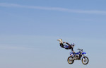 NC Photographer of the YearShawn RoccoNews & ObserverProfessional freestyle motocross cyclist Seth Elliott flies through the air during the KIng Action Sports Stunt Show.