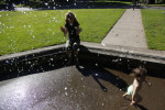 Student Photographer of the YearArkasha StevensonUNC Chapel Hill Sidsel Anderson watches her daughter, Riya Karmarkar, 18 months, play in the fountain at Washington Park. {quote}They have been waiting for the weather to get warm enough so that they could play in the fountain,{quote} Anderson said.