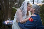 First Place, Photo StoryJerry Wolford, News-RecordThe bride, Carolyn McHenry and groome, Tim Barnette, kiss moments after their wedding ceremony.