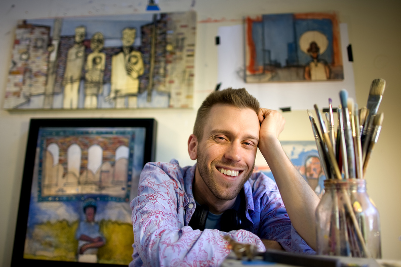 First Place | PortraitJerry Wolford, News-RecordPainter Les Caison III in his studio.