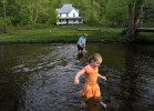 First Place | FeatureErin Brethauer, The Asheville Citizen-TimesMelanie McCoy, 6, stands in a stream as her brother Trent, 11, plays nearby Sunday evening.  The family was visiting the Great Smoky Mountains National Park from Waynesville.