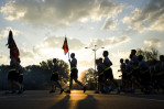 Second Place | Photo StoryJames Robinson, Fayetteville ObserverSoldiers leave the parking lot at the start of the 82nd Airborne Division run Monday Morning.