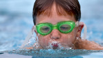 Third Place | Photo StoryJerry Wolford, News-RecordBoys 8 & Under 25 Yard Breaststroke. Wesley Wallace-SFCC.