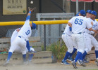First Place | SportsScott Muthersbaugh, Burlington Times-News8/3/11 - Royals third-baseman Adrian Bringas tracks down a foul ball that came too close for comfort for many of the Burlington relief pitchers during the game against Pulaski Wednesday.