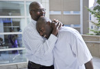 Honorable Mention | General NewsErin Brethauer, The Asheville Citizen-TimesRobert Wilcoxson, right, is embraced by his father Robert Wilcoxson-Bey after being proclaimed innocent and released from prison after being jailed for 11 years on murder charges.  Robert Wilcoxson and Kenneth Kagonyera were determined innocent by a rare three judge panel Thursday.  The N.C. Innocence Inquiry Commission ordered the proceeding after it found credible new evidence that Kagonyera and Wilcoxson didn't committed the 2000 murder of Walter Bowman.9/22/11