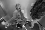 First Place | Photo Story Shawn Rocco, News & Observer Ruby Miller laughs as she tries out her the stair lift.