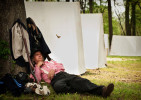 POY, Runner UpAndrew Craft, Fayetteville Observer Confederate re-enactor Curtis Robertson Sr. sleeps under a tree before a reenactment battle at the Campbellton Landing Civil War reenactment, April 16, 2011, in Fayetteville, N.C. 2011 marked the 150th anniversary of The Civil War.   CIABP
