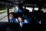 Student Photographer of the YearSpencer Bakalar, UNC-Chapel HillJunior Cary Academy volleyball players Katie Birmingham-Corbett (left) and Megan Hutzenbuhler sleep on the way to a game in Raleigh.
