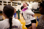 Student Photographer of the YearSpencer Bakalar, UNC-Chapel HillSenior co-captains Kourtney Dworsky (left) and Abby Larus celebrate after beating rival school Ravenscroft in five matches. Cary Academy ended up winning the conference championship.