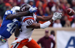 Student POY: Runner upStephen Mitchell, UNC-Chapel HillDuke safety Matt Daniels breaks up a pass from Virginia Tech in a game against Virginia Tech on Saturday, Oct. 29, 2011. Duke lost 14-10.