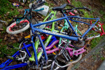 Second Place | Photo StoryJerry Wolford, News-RecordThe pile of salvage bikes the boys used for parts.