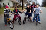 Second Place | Photo StoryJerry Wolford, News-RecordFriday, January 20, 2012 in Greensboro, NC, USA: (L to R) Friends, Stephen Bartley, 13, Tymier Starks, 11, Joshua Cox, 12, Kerron Smith, 11,  and Kenneth Pedley, 13, after their project was completed on Cranbrook St.