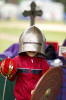 Third Place | Photo StoryJerry Wolford, News & RecordAlex Metzler, 4, tries on armor at the Clan Montgomery tent.