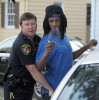 Third Place | Spot NewsBrad Coville, The Wilson TimesCapt. Keith Pendergrass searches George Tykiest Ruffin, 18, found to be in possession of marijuana during a traffic checkpoint Friday night June 8, 2012. Ruffin would be shot and killed two weeks later in Sharpsburg when a party erupted in gunfire injuring several people.
