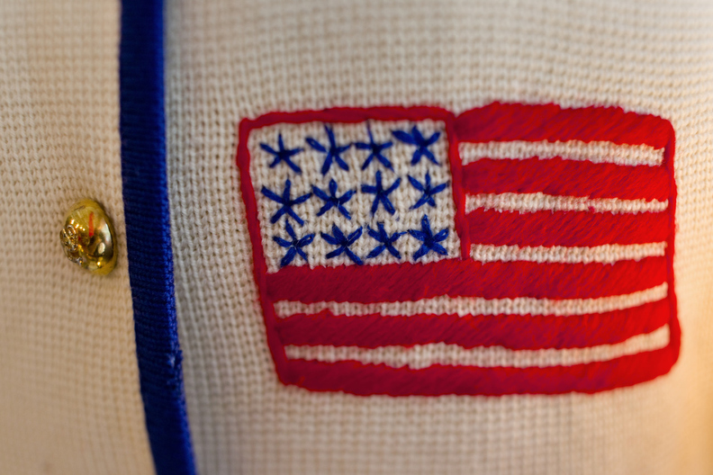 First Place | Multiple PhotosJerry Wolford, News & RecordA 1950's era hand stitched flag on a sweater for sale at  downtown thrift store.