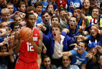 First Place | SportsMark Dolejs, Daily DispatchDuke fans taunt Ohio State's Sam Thompson as he takes out the ball at Cameron Indoor Stadium.Comment : Funny and sort of unusual moment. And pretty different for a category that was mostly filled with standard sports photography.