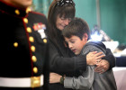 Second Place | Spot NewsChuck Beckley, Daily NewsCatherine Stouffer, the wife of CWO 3 Gary Stouffer, cries and hugs her son, Shane, during a brief ceremony of a decorated Christmas tree in honor of Stouffer at the beginning of the annual Festival of Trees, 12/02/2012, Satuurday morning in Jacksonville, N.C. Stouffer was one of four U.S. military veterans killed during a parade in Midland, Texas, on November 15 at the start of a weekend of festivities to honor veterans wounded in the Iraq and Afghanistan Wars.  +++A nice moment, it was hard to pick between this and the top one for first place.