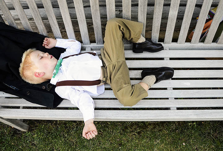 Student POY: Runner UPMelissa Melvin-RodriguezJoel Whitehead, 3, collapses into a deep sleep after performing his duty as ring bearer in the wedding of his Aunt Taylor Kelly in Bozeman, MT.