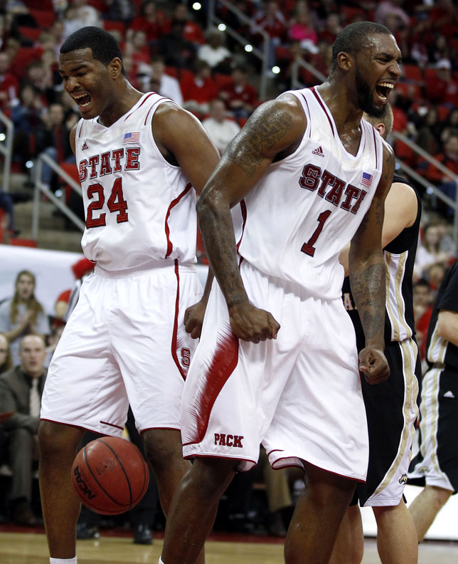 Sports Photographer of the YearEthan Hyman, News & ObserverN.C. State's Richard Howell (1), right, and T.J. Warren (24) celebrate after Howell slammed in two during the first half of N.C. State's game against Western Michigan Saturday, December 29, 2012, at PNC Arena in Raleigh, N.C.