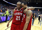 Sports Photographer of the YearEthan Hyman, News & ObserverN.C. State's C.J. Williams (21) walks of the court with N.C. State's Lorenzo Brown (2) after North Carolina 69-67 victory over N.C. State in the semifinals of the ACC Tournament Saturday, March 10, 2012, at Philips Arena in Atlanta, GA.
