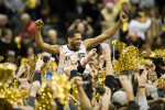 Third Place | SportsAndrew DyeWake Forest University senior guard C.J. Harris (11) is lifted by court storming fans after Wake Forest defeated N.C. State University 86-84 on Tuesday, January 22, 2013 at the LJVM Coliseum in Winston-Salem, N.C.