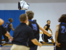 First Place | SportsScott Muthersbaugh, Burlington Times-News2/15/13 - Burlington Christian Academy's Jamison Jeffers flings his jersey into the air and runs to celebrate with his team after sinking a buzzer-beating three pointer to win against Westchester Country Day at BCA Friday.