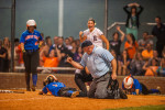 Third Place | SportsJames Nix, Independent TribuneMarvin Ridge's would-be tying-run is called out at home plate in the final out of the fourth-round game of the NCHSAA softball playoffs against Jay M. Robinson. Robinson won 3-2 to advance to the the regional round.