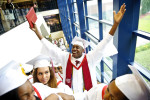 First Place | General NewsJames Robinson, The Fayetteville ObserverAaron Peoples celebrates after the Seventy-First High School commencement ceremony Friday afternoon at the Crown Coliseum.