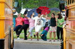 Third Place | General NewsMark Dolejs, Daily DispatchThe last day of school is capped off by teachers at Dabney Elementary dancing the can-can as students leave by bus Thursday afternoon.