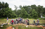 First Place | Multiple PhotosMelissa Melvin-Rodriguez, The Fayetteville ObserverRiders listen as they are given instruction before starting an exercise during a skills clinic at the BMX Park at Tanglewood.