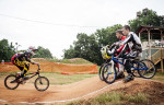 First Place | Multiple PhotosMelissa Melvin-Rodriguez, The Fayetteville ObserverCole Tesar, 17, (back right) and Kit Bjerk, 15, (front right) watch as a rider goes through an exercise during a skills clinic at the BMX park at Tanglewood.