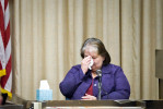 First Place | General NewsAndrew Dye, Winston-Salem JournalJudges Comments: General news was a small category and overall a weak category so we only awarded two photographs. First place is a clean news image with nice emotion. It is the safe image that can lead a section front and please the bosses.  Emotion overwhelms Doris Sullivan, the sister of murder victim Jackie Edward Cates, as she testifies in the trial of Landon Rader on Tuesday, October 2, 2013 in Winston-Salem, N.C.