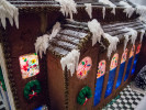 Second Place | Multiple PhotosTimothy Hale, FreelanceThe Pinehurst Village Chapel made of gingerbread and windows made of sugar, pastillage icicles, snow made of powered sugar, and chocolate trim at The Carolina Hotel in Pinehurst, N.C., Nov. 25, 2013. The finished village is comprised of gingerbread, sugar, and pastillage depicting iconic building in the village of Pinehurst.
