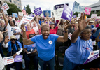 Second Place | News Photo StoryAndrew Dye, Winston-Salem JournalMary King, of Charlotte, shouts along with other protesters during the tenth Moral Monday protest in Raleigh. Protesters were focused on women's issues and voting rights.