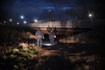 Third Place | News Photo Story Melissa Melvin-RodriguezSgt. Shannon Brewer, left, and Stacy Sanders walk toward the Person Street bridge to begin the Point in Time homeless count in Fayetteville and Cumberland County on Thursday, January 31, 2013.