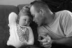 Honorable Mention | News Photo Story Al Drago, Elon UniversityStephen Shrum shares a moment with his daughter, Phoenix, after she calms down from being upset.