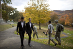 Third Place | Feature Photo Story Jill Knight, The News & ObserverDaniel and Larry pass by U.S. Military Academy cadets while walking the grounds of the Academy on their wedding day November 2, 2013 in West Point, N.Y. nycpr
