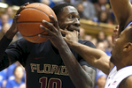 Honorable Mention | Sports Ethan Hyman, The News & ObserverFlorida State\'s Okaro White (10) is defended by Duke\'s Tyler Thornton (3) during the first half of Duke\'s game against Florida State at Cameron Indoor Stadium in Durham, N.C., Saturday, January 25, 2014.