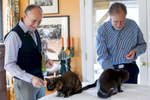 Second Place | News Photo Story Ray Whitehouse, UNC Chapel HillJeff and Stan feed their cats treats just before driving to their wedding.