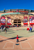 First Place | Sports Photo Story Ray Whitehouse, UNC Chapel HillIn Anaheim, CA, a young fan stands outside Angels Stadium of Anaheim. The home plate gate entrance features a full-size brick infield and pitcher\'s mound.