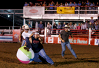 Photographer of the Year Jerry Wolford, News & RecordMembers of the audience play \{quote}drunk soccer.\{quote} The game, initiated by a rodeo clown, involves the participants wearing goggles that simulates the vision and balance for a blood alcohol level of .20. The goggles are normally used in drunk driving awareness campaigns.