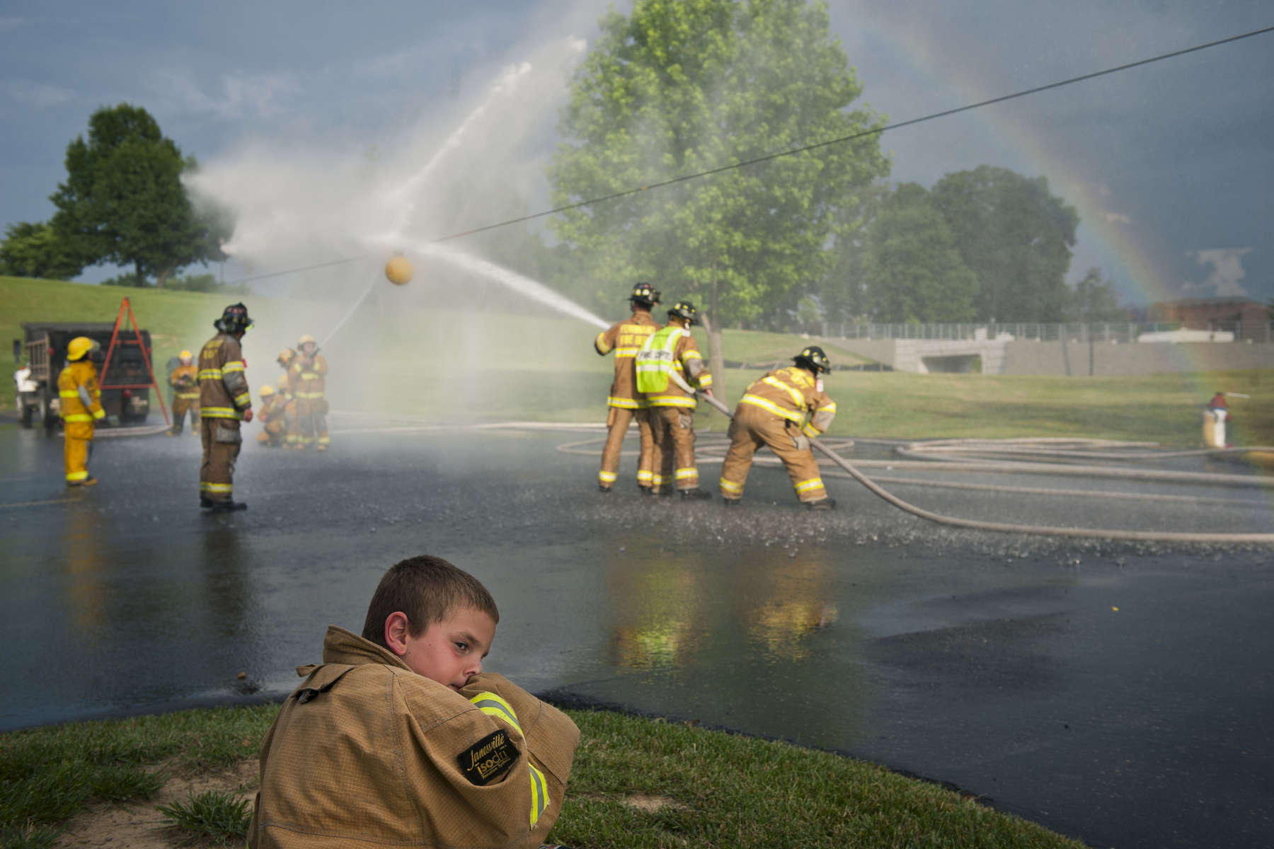 Student Photographer of the YearCarolyn Van Houten, UNC Chapel HillTanner Blackgrove of Huntingburg, 8, wore his father\'s fireman\'s jacket during the Waterball competition at the Heimatfest in Ferdinand on Friday.