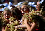 Sports Photographer of the Year: Runner UpScott Muthersbaugh, Perfecta VisualsElon University cheerleaders hug squad member Ashtin Gill after Gill was named homecoming queen during Stony Brook\'s 20-3 win over Elon in Elon, N.C. on Saturday, October 18, 2014.
